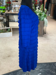 RA LS Ruffle Dress - Royal (Side)