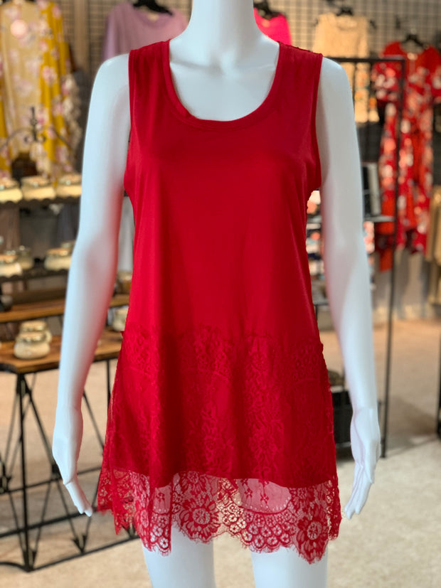 RA SL Lace Extender - Red (Front)