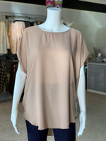Load image into Gallery viewer, Cross Back Cutout Tunic - Mocha (Front)