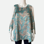 Load image into Gallery viewer, Ribbon Chiffon Paisley Top (Main)