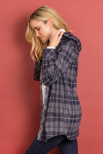 Load image into Gallery viewer, Bonfire Plaid Jacket - Women (NAVY SIDE)