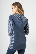 Load image into Gallery viewer, Lakeside Hooded Top - Women (Navy BACK)