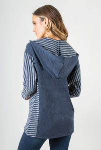 Lakeside Hooded Top - Women (Navy BACK)