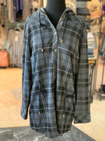 Load image into Gallery viewer, Bonfire Plaid Jacket - Women (Steel FRONT)