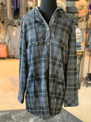 SN Bonfire Plaid Jacket - Steel (Front)