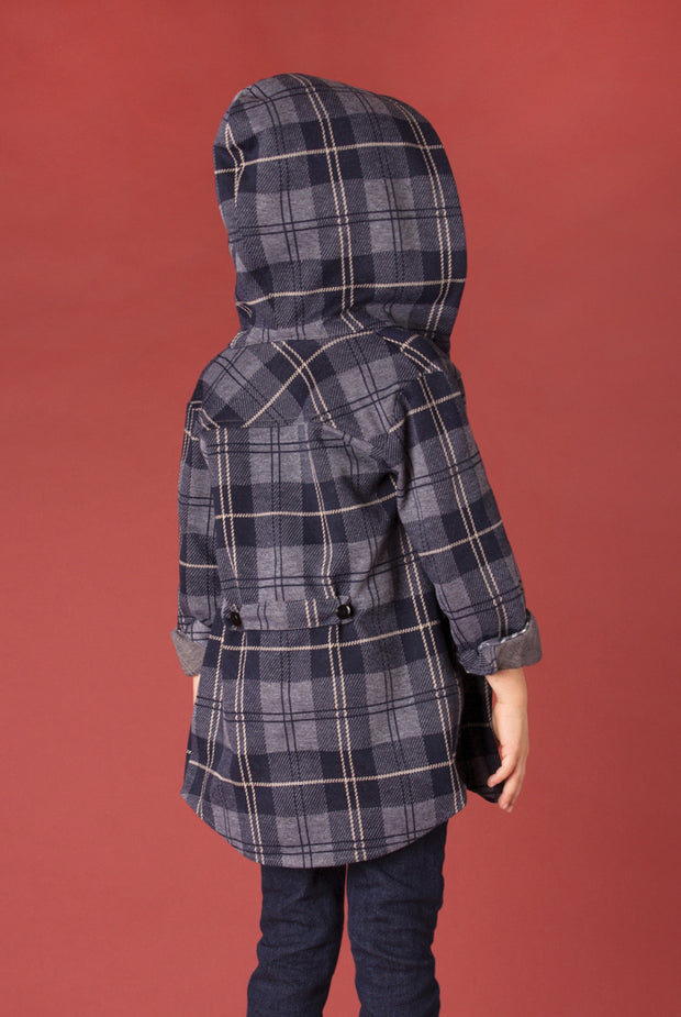 SN Bonfire Plaid Jacket - Child Navy (Back)