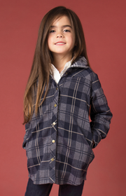 SN Bonfire Plaid Jacket - Child Navy (Front)