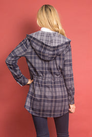 SN Bonfire Plaid Jacket - Navy (Back)
