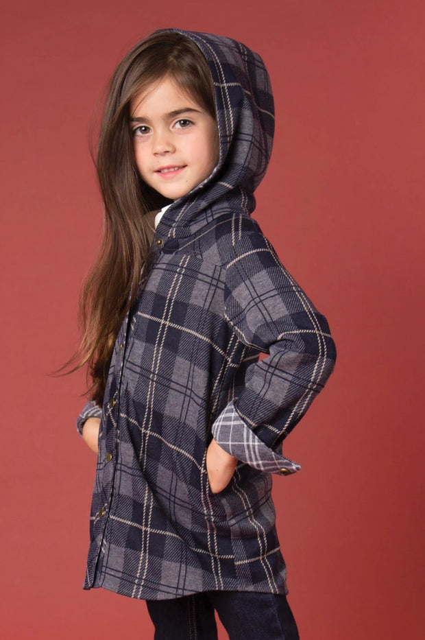 SN Bonfire Plaid Jacket - Child Navy (Side)