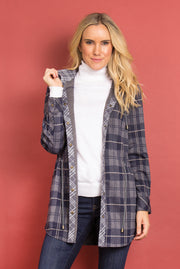 SN Bonfire Plaid Jacket - Navy (Front)