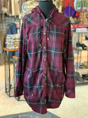 SN Bonfire Plaid Jacket - Sangria (Front)