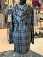 Load image into Gallery viewer, Bonfire Plaid Jacket - Women (Steel BACK)