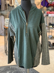 SN Lakeside Hooded Top - Ivy (Front)