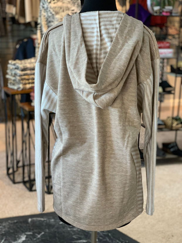 SN Lakeside Hooded Top - Pearl (Back)