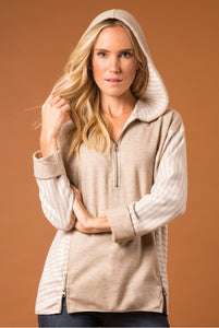 Lakeside Hooded Top - Women (Pearl FRONT)