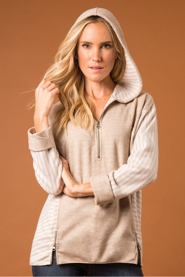 SN Lakeside Hooded Top - Pearl (Front)