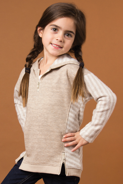 SN Lakeside Hooded Top - Pearl (Toddler Front)