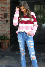 Load image into Gallery viewer, Carrie Colorblock Sweater