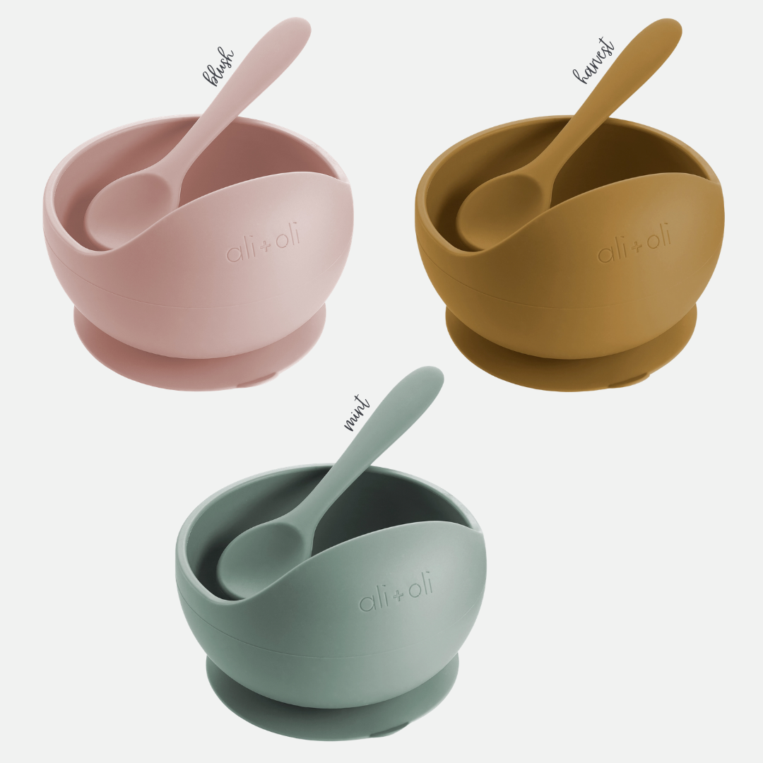 Silicone Suction Bowl & Spoon Set with Colors (Main)