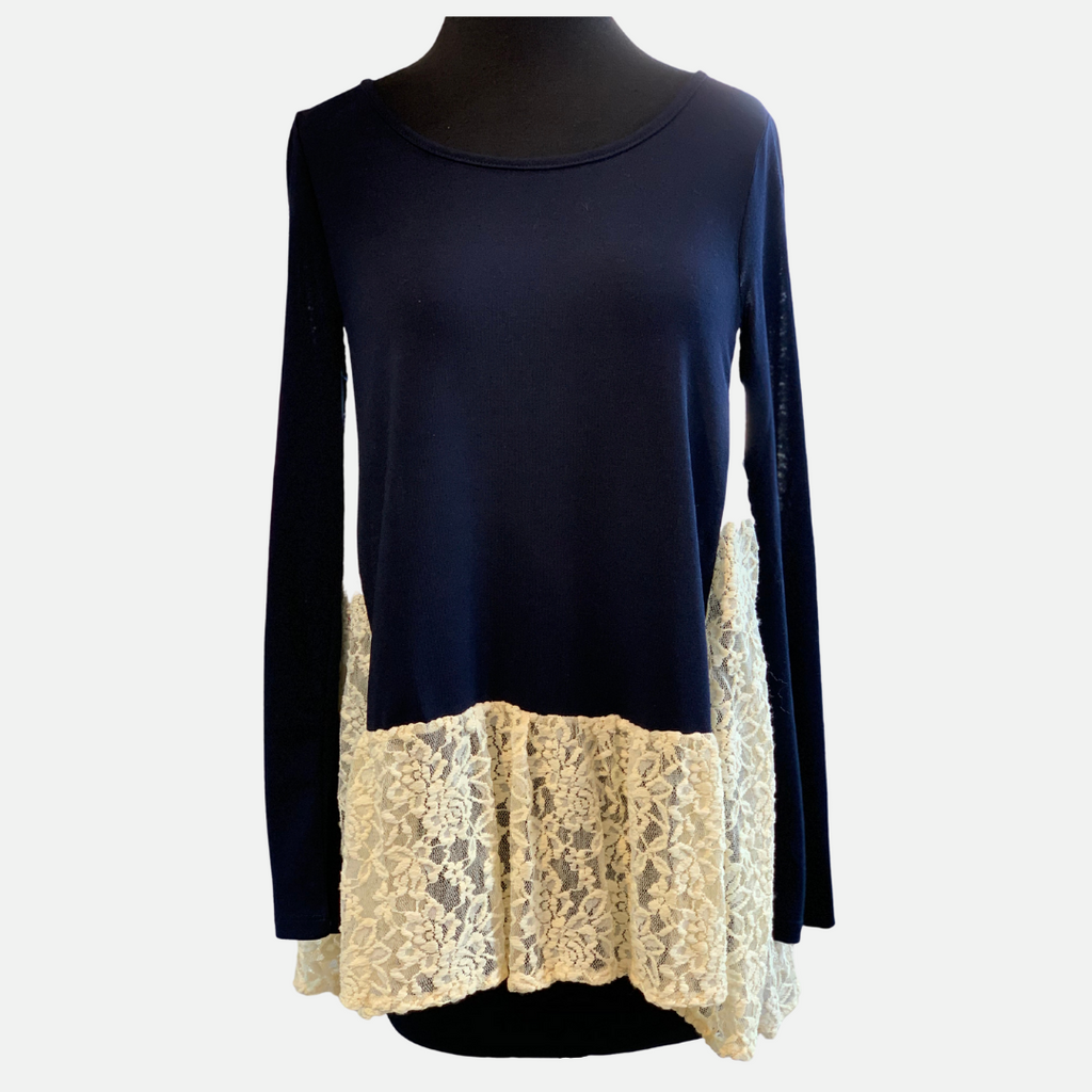 Solid Lace Contrast Top (Main)