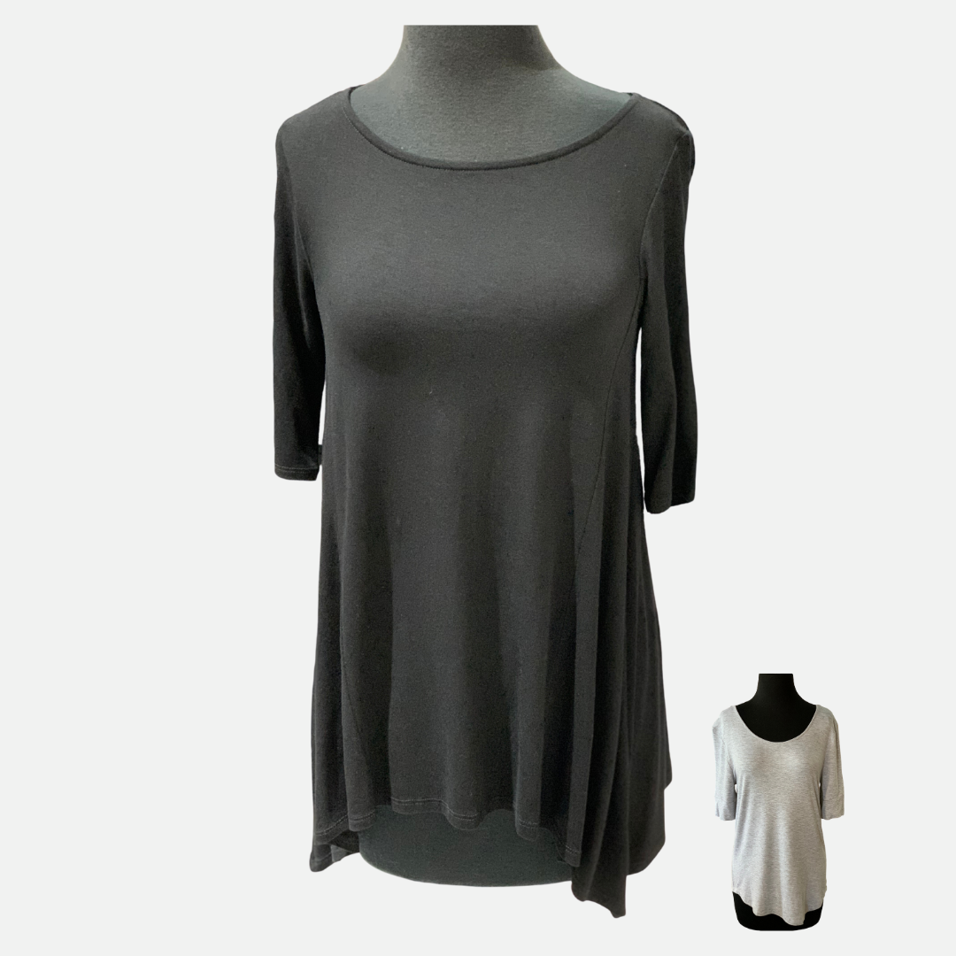 Solid Round Neck Top (Main)