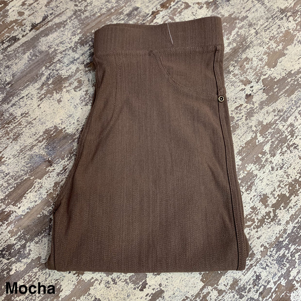 Solid Stretch Jeggings (Mocha)