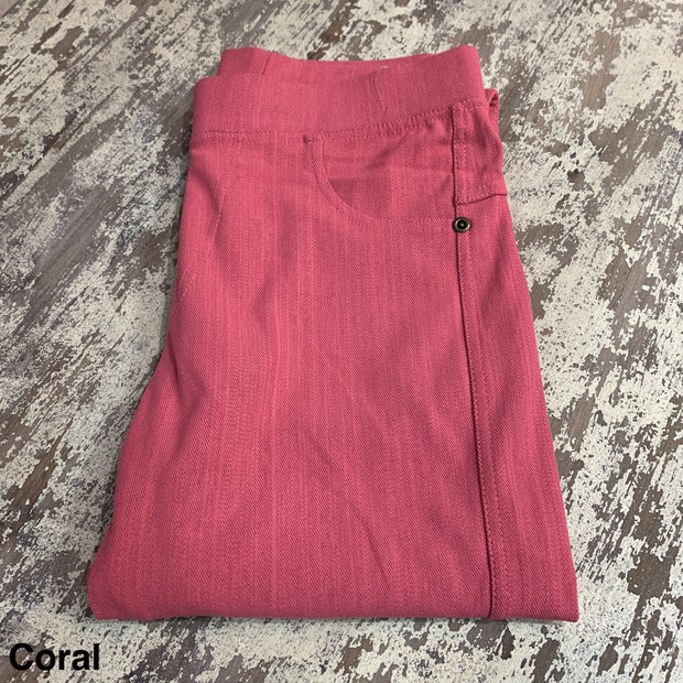 Solid Stretch Jeggings (Coral)