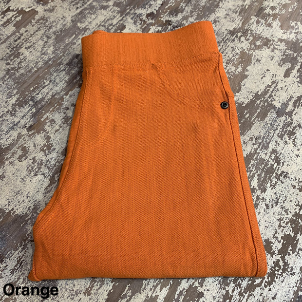 Solid Stretch Jeggings (Orange)