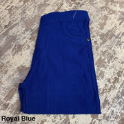 Solid Stretch Jeggings (Royal Blue)