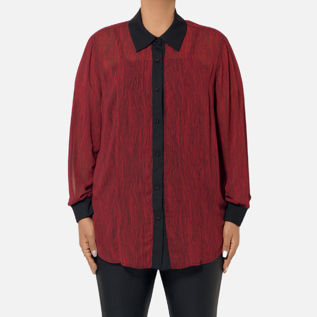 Stripe Buttondown Top (Main)