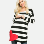 Load image into Gallery viewer, Stripe Heart Patch Tunic (Main)