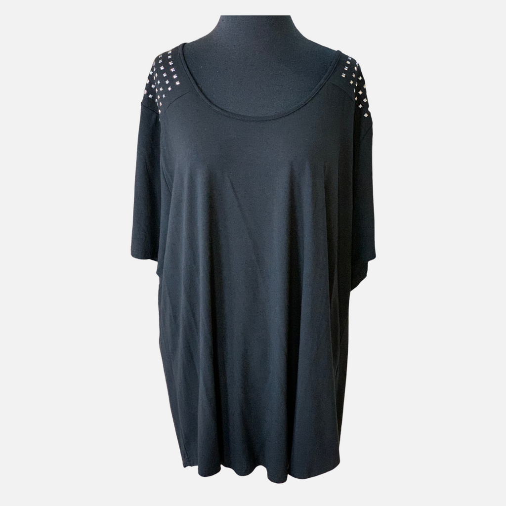 Studded Shoulder Tee (Main)