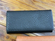 TRSK Leather Wallet - Black (FRONT)