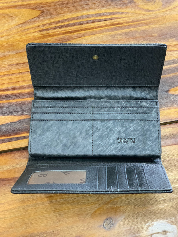 TRSK Leather Wallet - Black (Inside)
