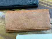 TRSK Leather Wallet - Brown (FRONT)
