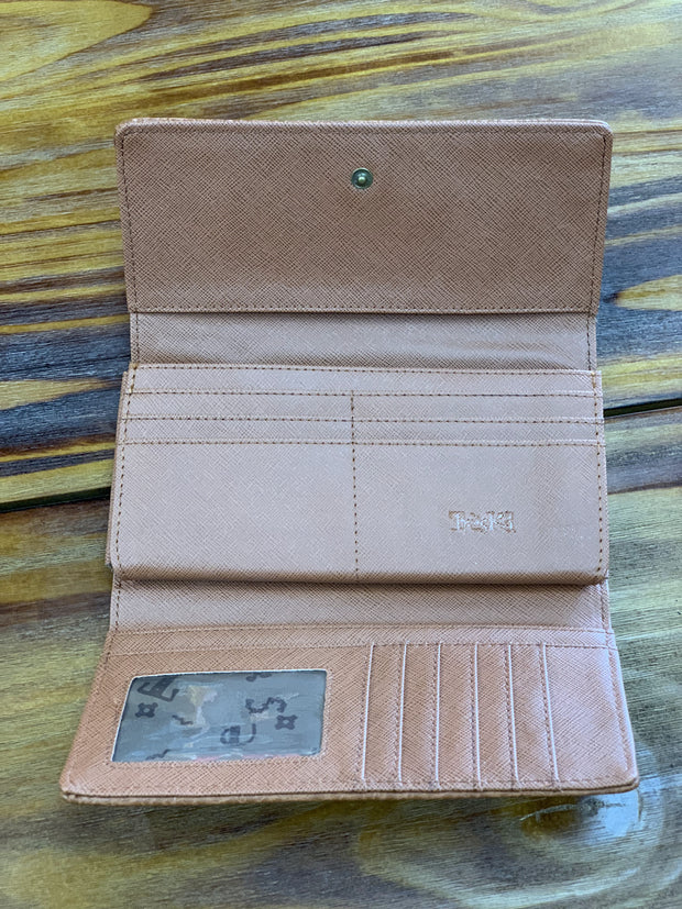 TRSK Leather Wallet - Brown (Inside)
