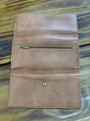 TRSK Leather Wallet - Brown (Outside)