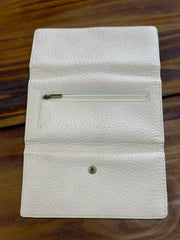 TRSK Leather Wallet - Off White (Outside)