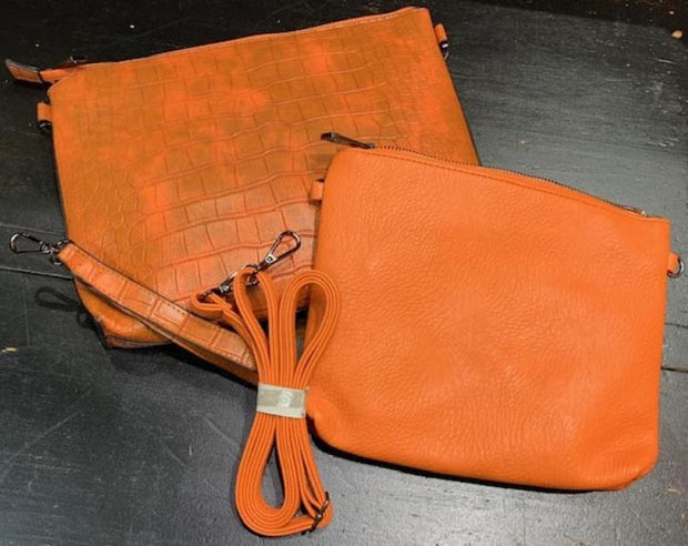 2-Piece Gator Clutch Set (Orange)