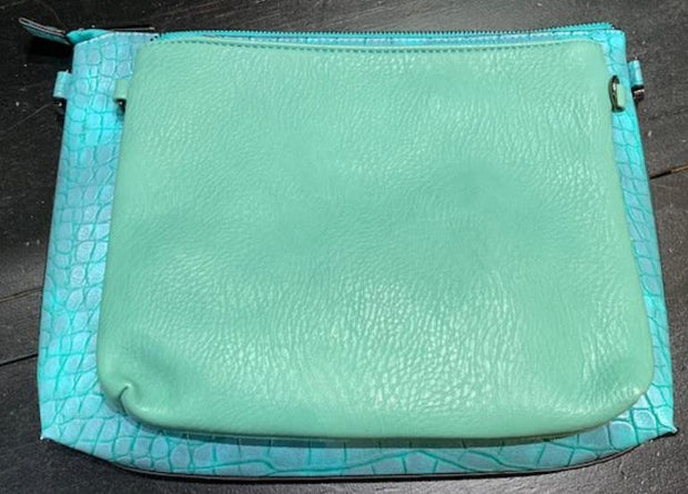 2-Piece Gator Clutch Set (Turquoise)