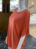 Load image into Gallery viewer, Basic Knit Top - Coral (Closeup)