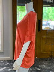 UMG SS Basic Knit Top - Coral (Side)