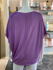 UMG SS Basic Knit Top - Lavender (Back)