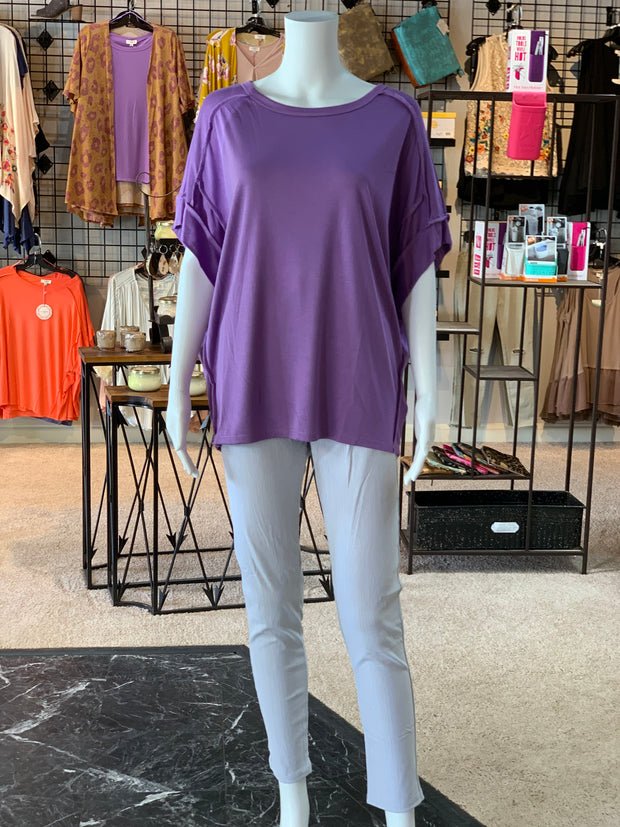UMG SS Basic Knit Top - Lavender (Outfit)