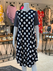 VM SS Polka Dot Print Dress (Front)