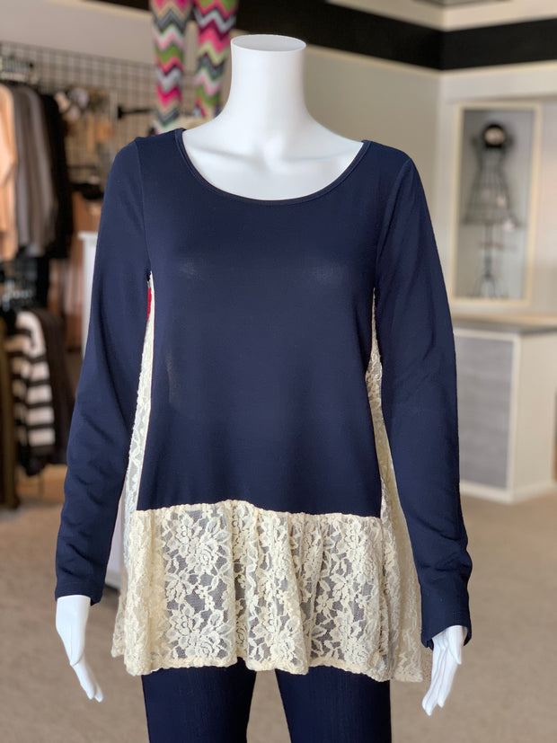 VM Solid Lace Contrast Top (Front)