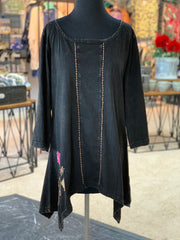 WT Side Tail Flower Tunic (Front)