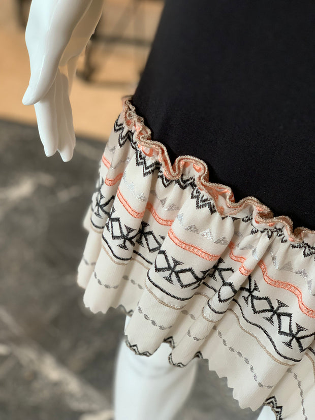 Embroidered Ruffles Dress Extender - S (Closeup)