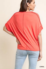 Load image into Gallery viewer, Basic Knit Top - Model (CORAL Back)