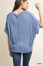 Load image into Gallery viewer, Basic Knit Top - Model (DENIM Back)